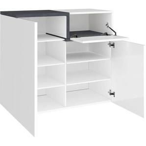 Tecnos Schuhschrank Zet, Breite 80 cm B/H/T: x 40 cm, 2 weiß Schuhschränke Garderoben Nachhaltige Möbel