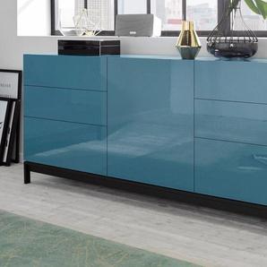 Sideboard , blau, »Metis«, mit Schubkästen, FSC®-zertifiziert, Tecnos
