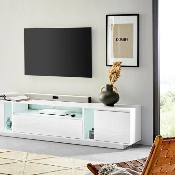 TV-Board »Elegant«, 220.2x40x40 cm (BxHxT), FSC®-zertifiziert, Tecnos, Material Holzwerkstoff