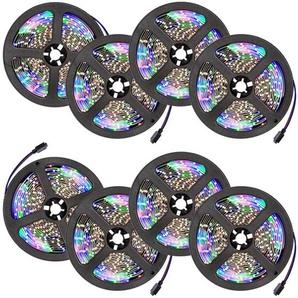 Tectake 8 LED Strips mit 300 LEDs 5m Länge weiß