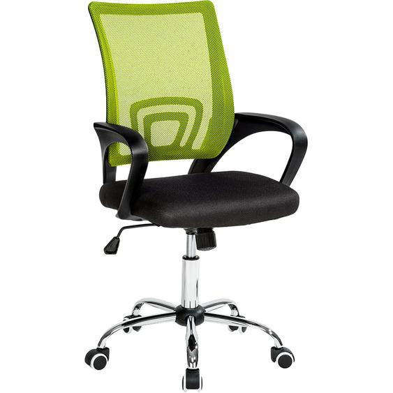 Tectake Bürostuhl Marius schwarz grün