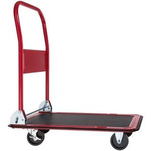 Tectake Plattformwagen mit Bremsen 150 kg