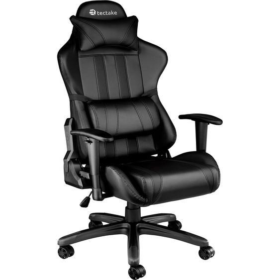 Tectake Premium Racing Bürostuhl mit Streifen schwarz