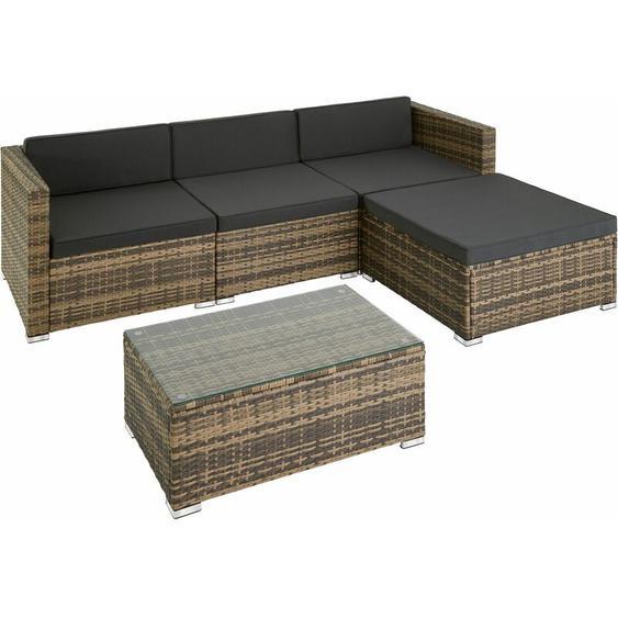 Rattan Lounge Florenz - Gartenlounge, Terrassenmöbel, Rattan Lounge - natur