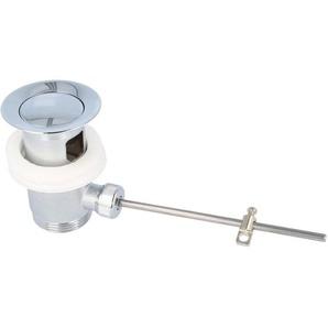 tecuro Excenter Ab- und Überlaufgarnitur chrom / sandgestrahlt für Waschtisch mit Überlauf