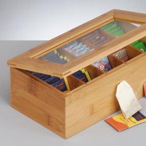 Teebox, braun, L/B/H, Zeller Present