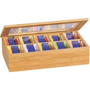Teebox, beige, L/B/H, FSC-Zertifikat, , , FSC®-zertifiziert, KESPER for kitchen & home