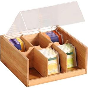 Teebox, braun, L/B/H, FSC-Zertifikat, , , FSC®-zertifiziert, KESPER for kitchen & home