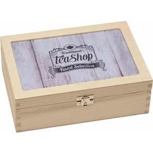 Teebox »Traditional Tea-Shop Finest Selection«, braun, L/B/H, Contento