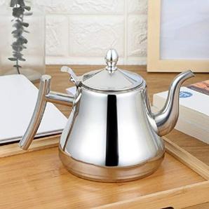 Teekanne mit Filter Wasserkocher Edelstahl Wasserkocher Gold und Silber Farbe 1L / 1.5L / 2L