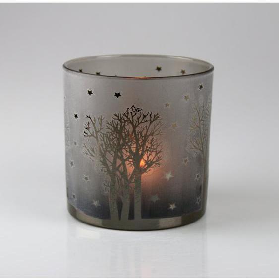 Teelichthalter Bäume aus Glas