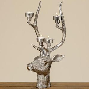 Teelichthalter Hirsch aus Aluminium