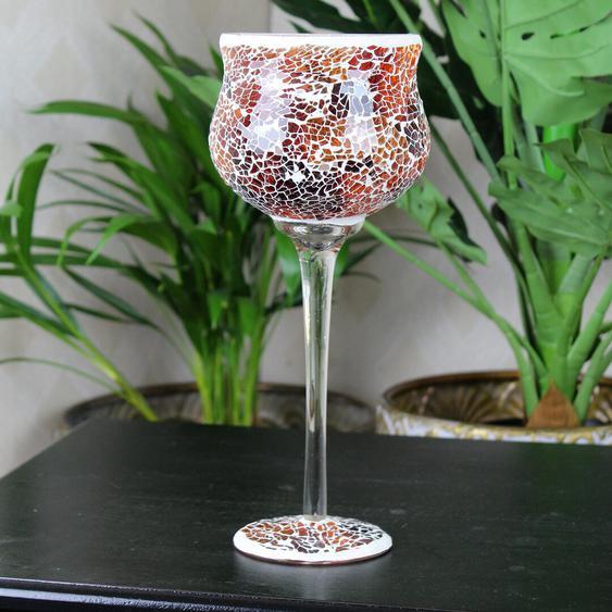 Teelichthalter Mosaic aus Glas