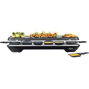 Tefal Raclette Simply Line Inox & Design schwarz Kunststoff antihaft