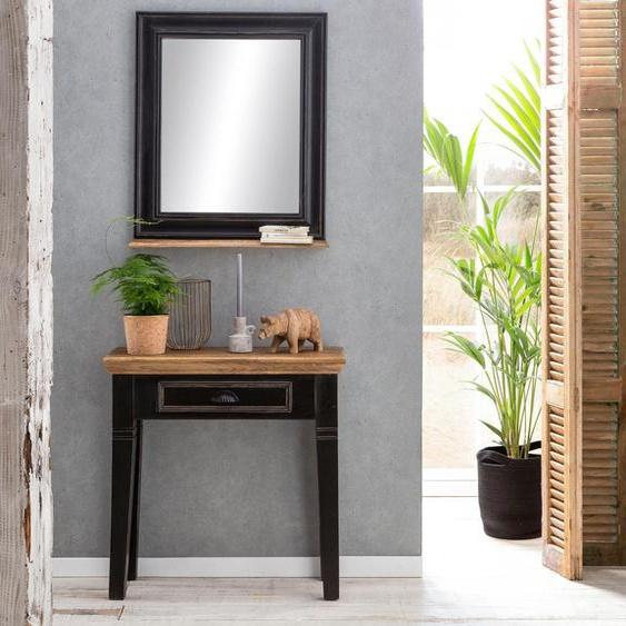 Telefontisch »Corsica«, Landhaus-Stil, FSC®-zertifiziert, schwarz, Material Massivholz, SIT-Möbel