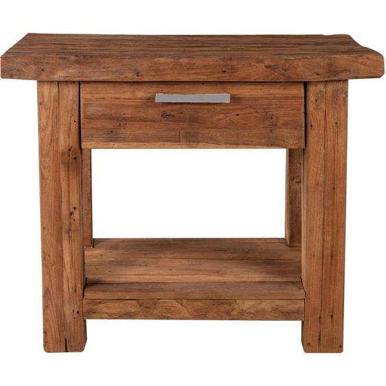 Telefontisch, FSC®-zertifiziert, beige, Material Altholz / Holz »Coral«, SIT-Möbel