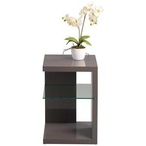 Telefontisch in Anthrazit Hochglanz Glasablage