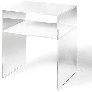 Telefontischchen aus Acrylglas Weiß
