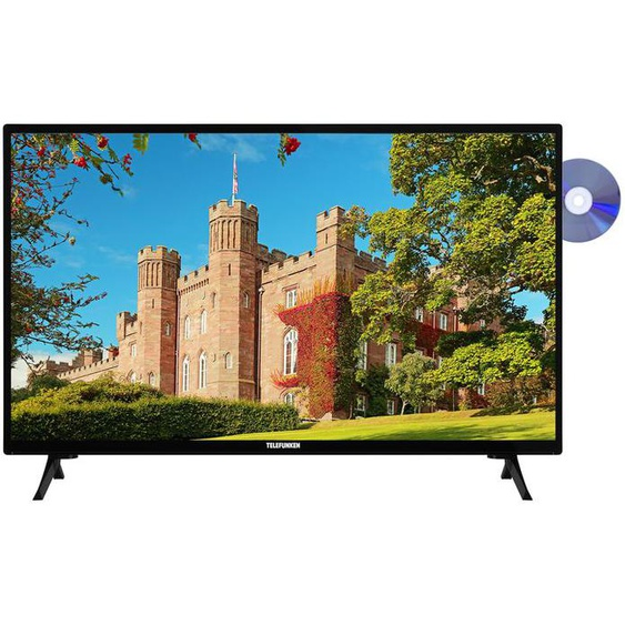 TELEFUNKEN XH24J101D 24 Zoll Fernseher (HD ready, DVD-Player, Triple Tuner)