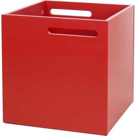 TemaHome Aufbewahrungsbox Berlin, mit Muldegriffen für einen praktischen Transport, in verschiedenen modernen Farbvarianten erhältlich B/H/T: 34 cm x rot Regalwürfel Regale Kleinmöbel