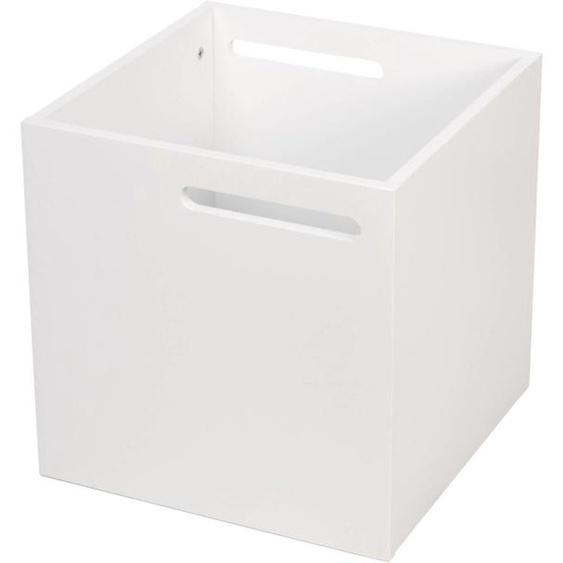 TemaHome Aufbewahrungsbox Berlin, mit Muldegriffen für einen praktischen Transport, in verschiedenen modernen Farbvarianten erhältlich B/H/T: 34 cm x weiß Regalwürfel Regale Kleinmöbel