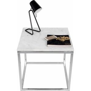 TemaHome Beistelltisch Praise, in unterschiedlichen Farben der Tischplatte und des Gestells erhältlich, Breite 50 cm B/H/T: x cm, Chromfarbenes Beingestell schwarz Beistelltische Tische