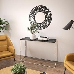 TemaHome Konsolentisch Gleam, mit einer edlen Marmorplatte und einem Chromgestell B/H/T: 120 cm x 76 cm, schwarz Wandtische Konsolentische Tische