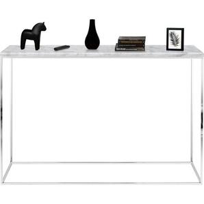 TemaHome Konsolentisch Gleam, mit einer edlen Marmorplatte und einem Chromgestell B/H/T: 120 cm x 76 cm, weiß Wandtische Konsolentische Tische