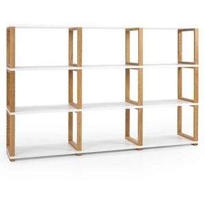 Tenzo Art Regal Raumteiler 178x36x118cm Weiß/Eiche