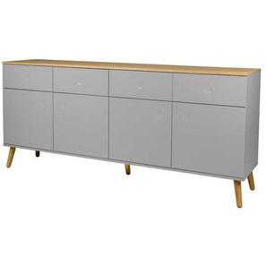Tenzo Dot Sideboard 192x43x86cm Grau/Eiche