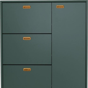 Tenzo Schuhschrank Svea, mit 1 Tür und 3 Klappen B/H/T: 95 cm x 129 25 cm, grün Schuhschränke Garderoben Nachhaltige Möbel