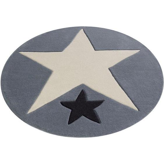 Kinderteppich »707«, Rock STAR Baby, rund, Höhe 10 mm, handgearbeiteter Konturenschnitt, Kinder- und Jugendzimmer