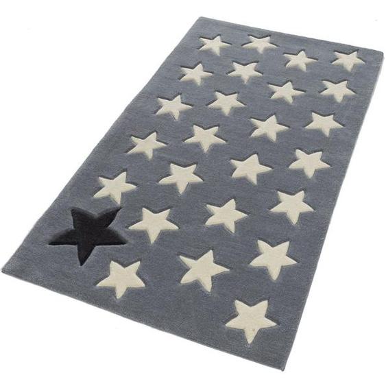 Kinderteppich »711«, Rock STAR Baby, rechteckig, Höhe 10 mm, handgearbeiteter Konturenschnitt, Hoch-Tief-Struktur, Kinder- und Jugendzimmer