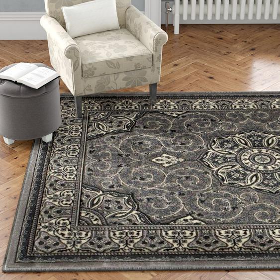 Teppich Aanya in Silber