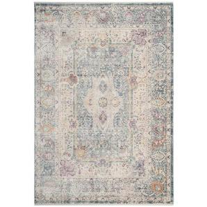Teppich Torquay in Blaugrün/Cremefarben