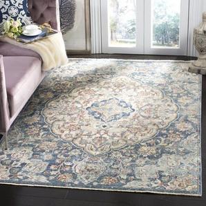 Teppich Courtemanche in Creme/Blau