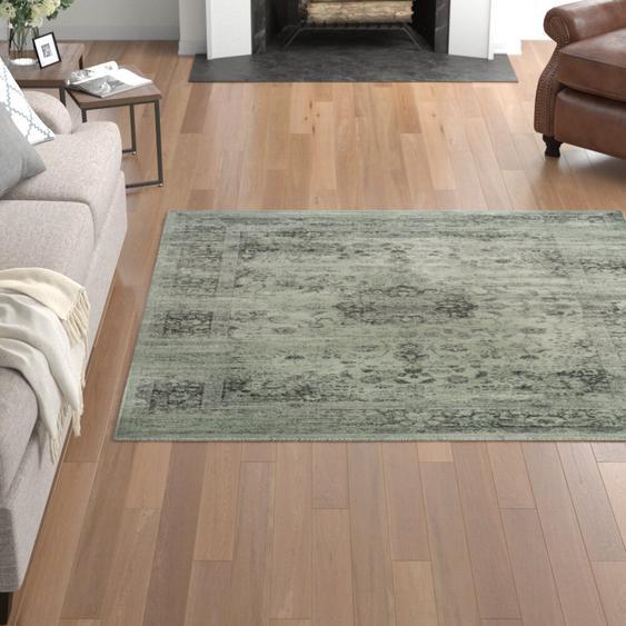 Teppich Bahr in Grau/Fichtengrün