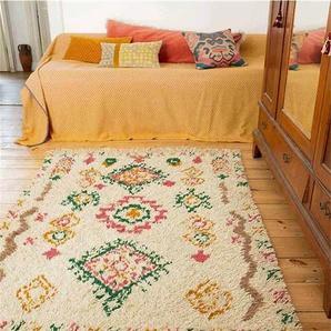 Teppich Berber - bunt - Wollmix, Bambusseide - Teppiche
