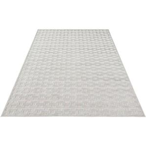 Teppich »Bouton«, MINT RUGS, rechteckig, Höhe 4 mm, Hoch-Tief-Effekt, Wohnzimmer