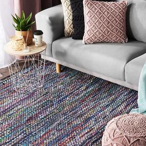 Teppich bunt 160 x 230 cm Kurzflor ALANYA