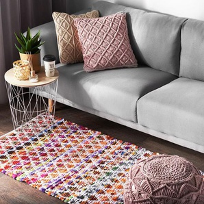 Teppich bunt 80 x 150 cm Kurzflor ARAKLI