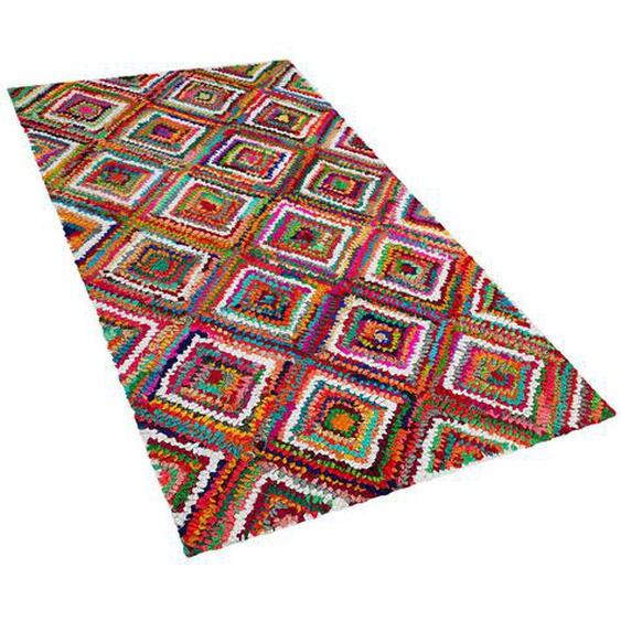 Teppich bunt 80 x 150 cm Shaggy KAISERI