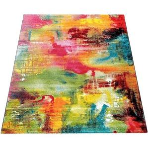 Teppich »Canvas 754«, Paco Home, rechteckig, Höhe 16 mm, Kurzflor mit Arizona Leinwand Optik, Wohnzimmer