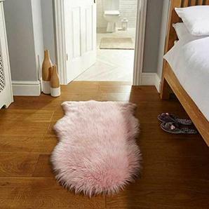 Teppich Casandra aus Schaffell in Rosa