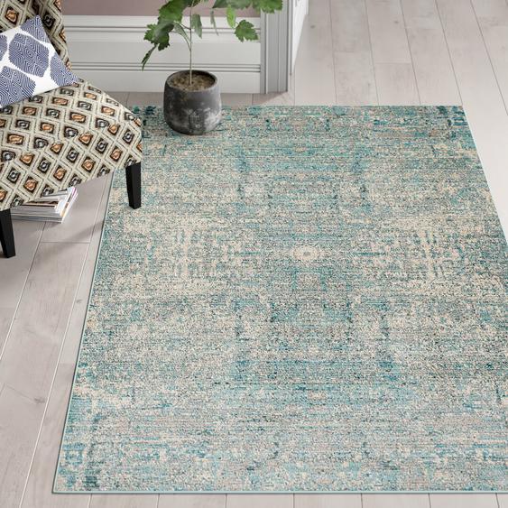 Teppich Daulton in Blaugrün