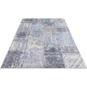 Teppich »Denain«, ELLE DECORATION, rechteckig, Höhe 4 mm, Vintage Patchwork, hochwertiger Materialmix, Wohnzimmer