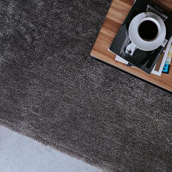Teppich dunkelgrau 80 x 150 cm Shaggy DEMRE
