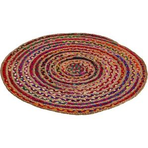 Teppich »Ethno«, Barbara Becker, rund, Höhe 4 mm, Flachgewebe, Obermaterial: 50% Baumwolle, 50% Jute