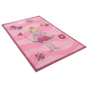 Handgetufteter Teppich Maui in Rosa