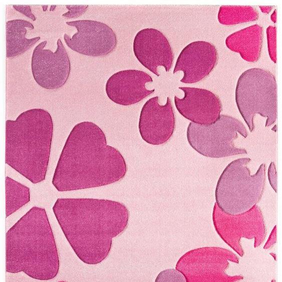 Kinderteppich »Flair«, LUXOR living, rechteckig, Höhe 15 mm, Kurzflor, Blumen Design, Kinderzimmer